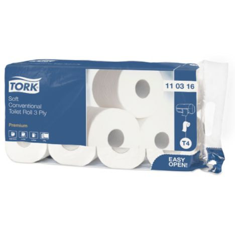 Tork Traditioneel Toiletpapier 3-laags Wit 250 Vel T4 Premium