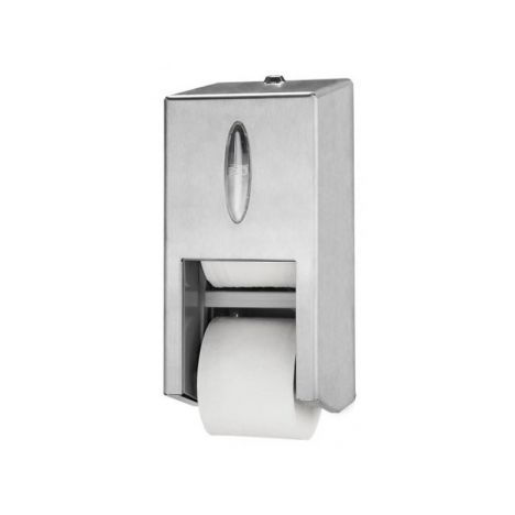 Tork Twin Hulsloos Mid-size Toiletpapier Dispenser RVS T7