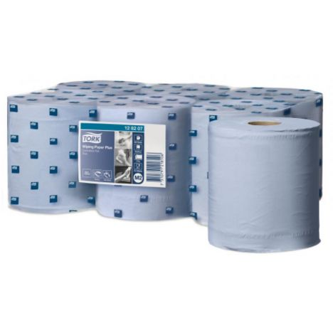 Tork Wiping Plus Centerfeed Poetspapier 2-laags Blauw M2