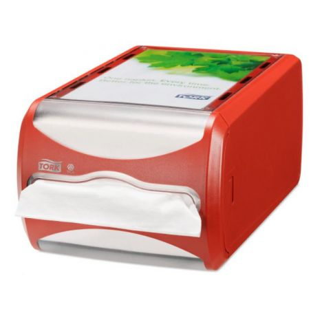 Tork Xpressnap® Counter servetdispenser rood (N4)